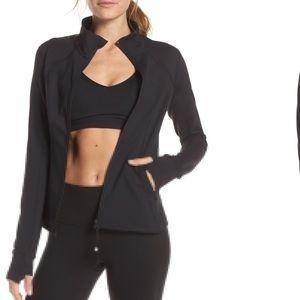 Zella black zipper jacket S